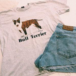 Vintage Grey Bull Terrier Dog T-shirt